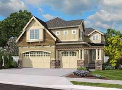 Hampton Style Home Design Plan: 88-418