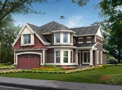 Hampton Style Home Design Plan: 88-419