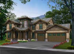 Craftsman Style Home Design Plan: 88-430