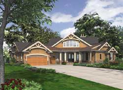 Mountain-or-Rustic Style Floor Plans Plan: 88-434