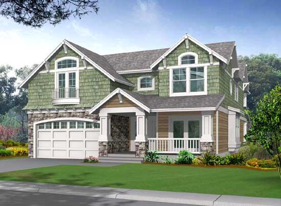 Shingle Style House Plans Plan: 88-437