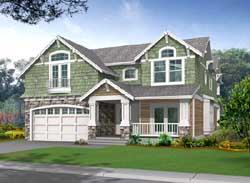 Shingle Style Home Design Plan: 88-437