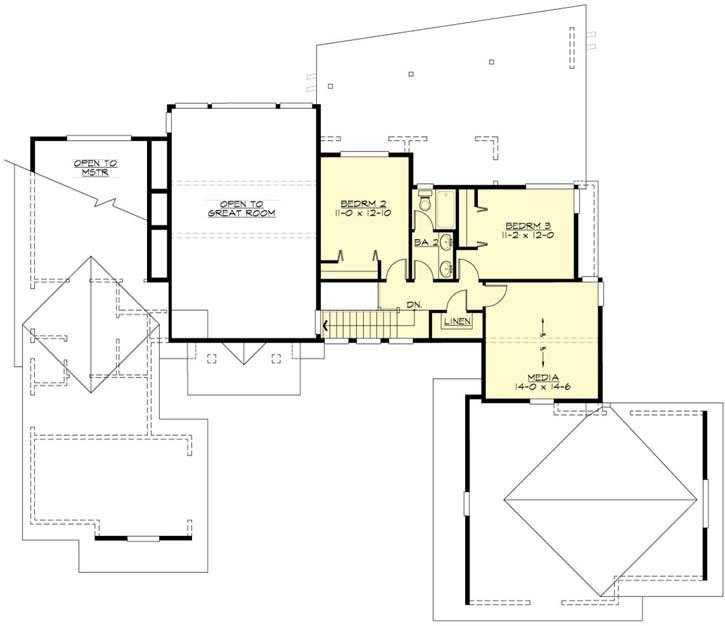 Upper/Second Floor Plan: 88-441