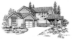 Northwest Style House Plans Plan: 88-447