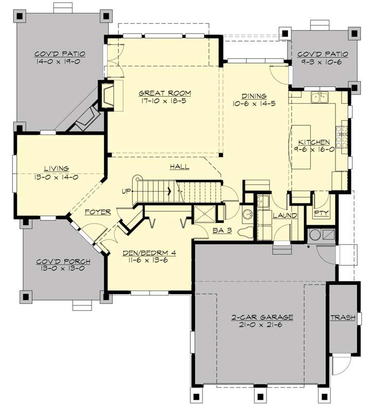 Main Floor Plan: 88-448