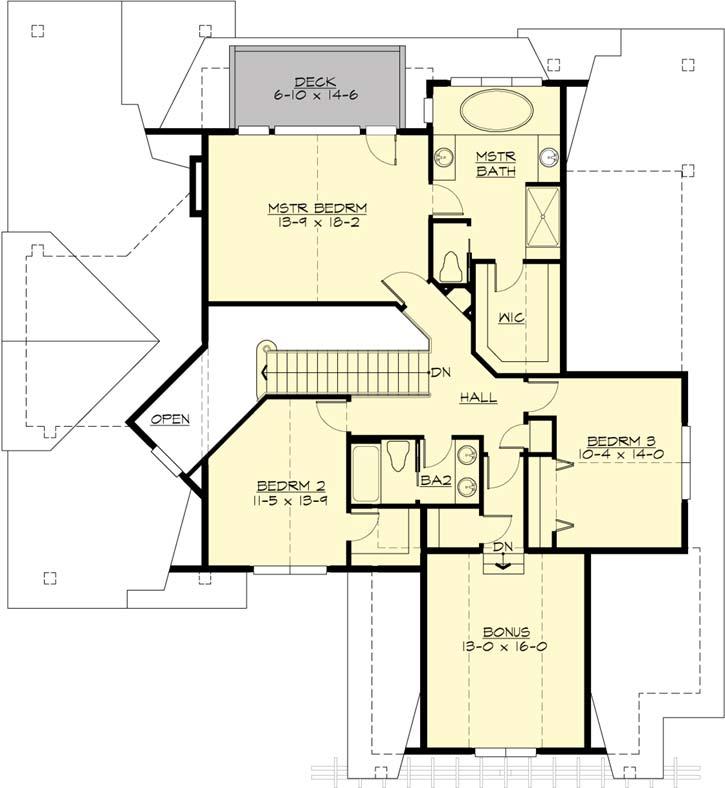 Upper/Second Floor Plan: 88-448