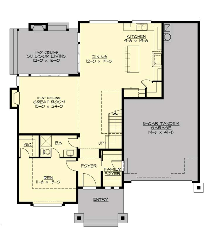 Main Floor Plan: 88-458