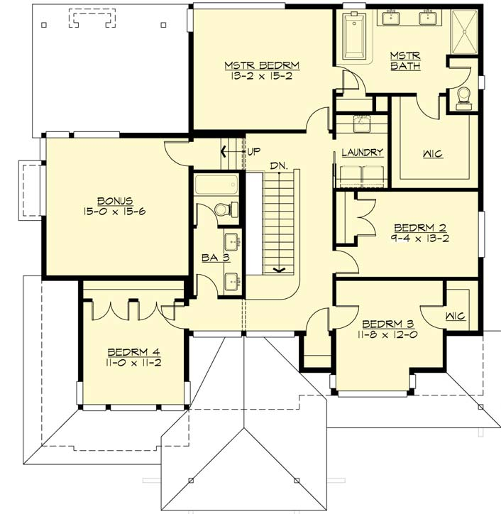 Upper/Second Floor Plan: 88-458