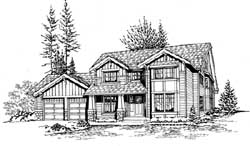 Craftsman Style Home Design Plan: 88-462