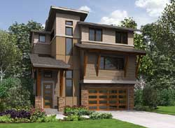 Modern Style House Plans Plan: 88-463