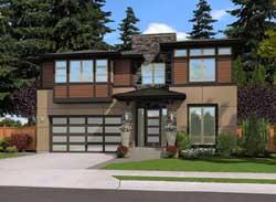 Modern Style House Plans Plan: 88-465