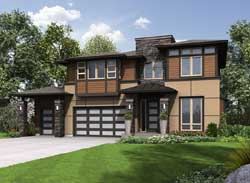 Prairie Style Floor Plans Plan: 88-467
