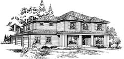 Hampton Style Floor Plans Plan: 88-472