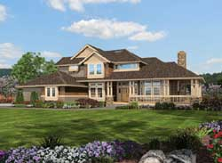 Craftsman Style Home Design Plan: 88-479