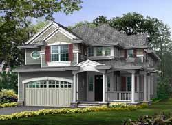 Shingle Style House Plans Plan: 88-483