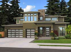 Contemporary Style Floor Plans Plan: 88-486