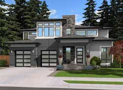 Contemporary Style Floor Plans Plan: 88-487