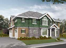 Hampton Style Home Design Plan: 88-490