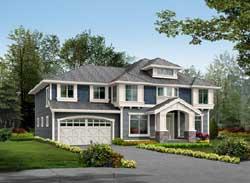 Hampton Style Home Design Plan: 88-496