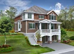 Hampton Style Floor Plans Plan: 88-499