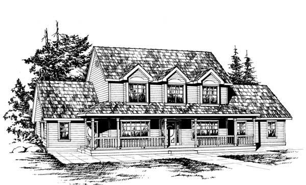 Farm Style Home Design Plan: 88-502