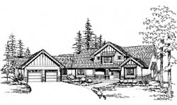 Craftsman Style Home Design Plan: 88-513