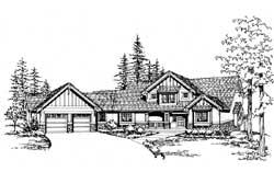 Craftsman Style Home Design Plan: 88-514