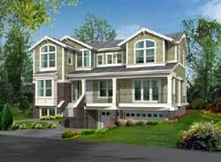 Shingle Style Home Design Plan: 88-517