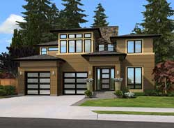 Modern Style House Plans Plan: 88-518