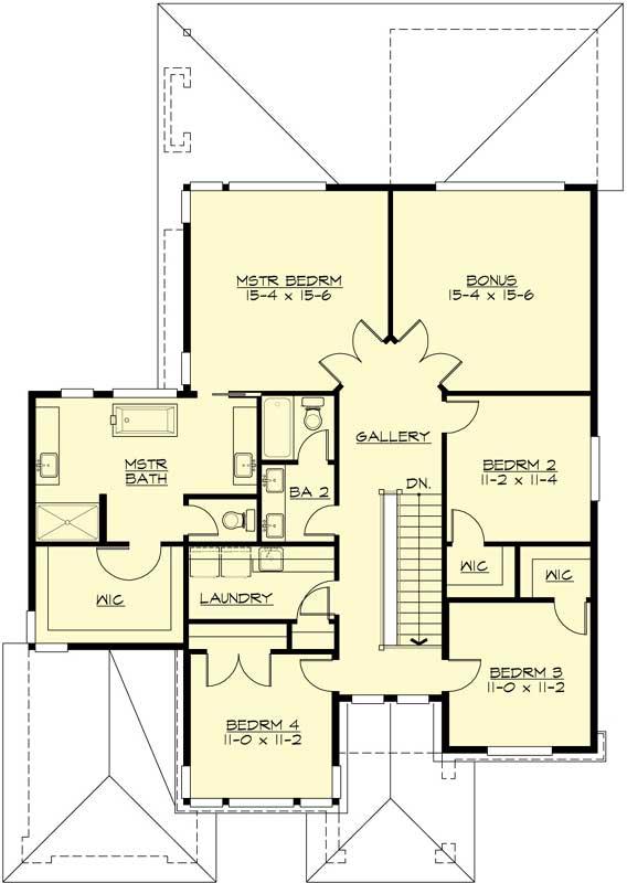 Upper/Second Floor Plan: 88-518