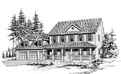 Farm Style Floor Plans Plan: 88-530