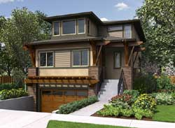 Modern Style Home Design Plan: 88-541