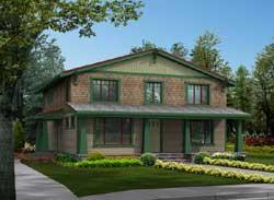 Shingle Style Home Design Plan: 88-547