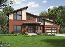 Modern Style Home Design Plan: 88-549