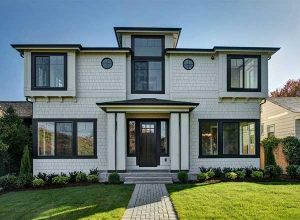 Shingle Style Home Design Plan: 88-552