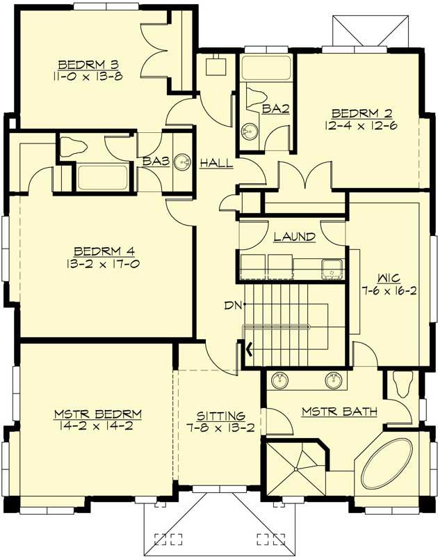 Upper/Second Floor Plan: 88-552