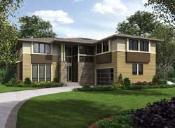 Contemporary Style Floor Plans Plan: 88-553
