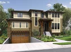 Modern Style Home Design Plan: 88-558
