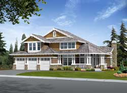 Shingle Style House Plans Plan: 88-565
