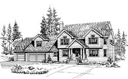 Country Style Home Design Plan: 88-568
