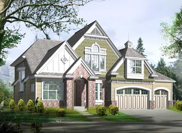 Hampton Style Home Design Plan: 88-572