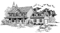 Country Style Floor Plans Plan: 88-573