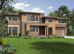 Modern Style House Plans Plan: 88-574