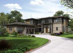 Contemporary Style Floor Plans 88-579