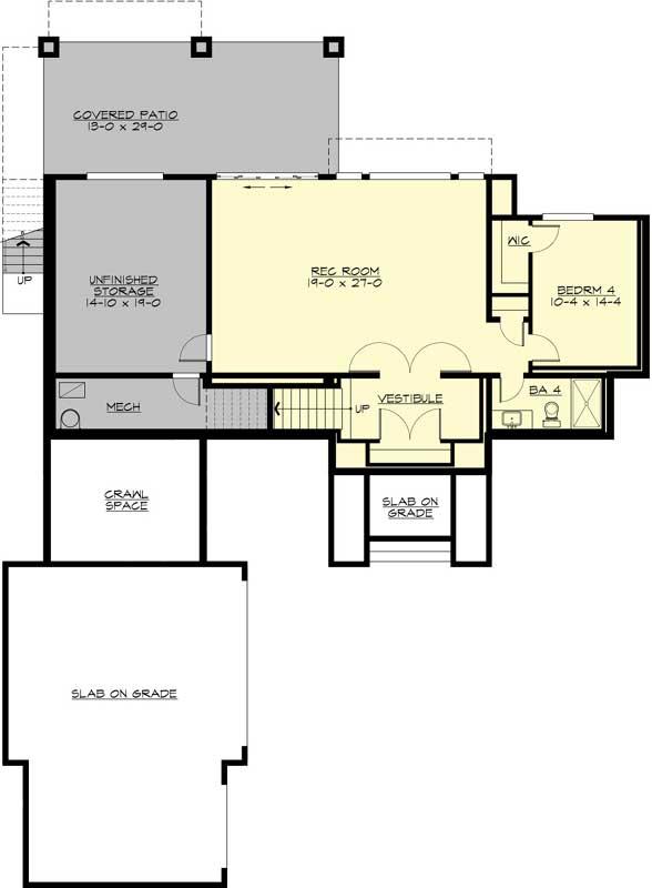 Lower Floor Plan: 88-580
