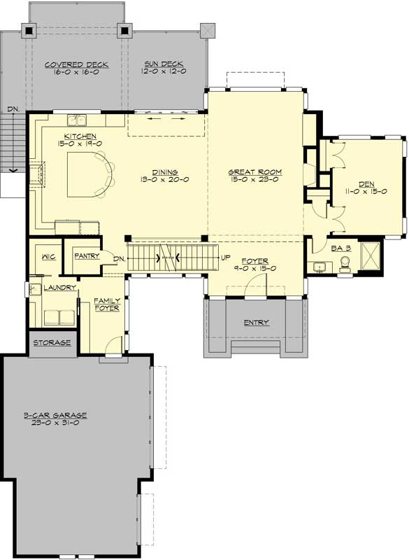 Main Floor Plan: 88-580