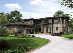 Modern Style House Plans Plan: 88-580