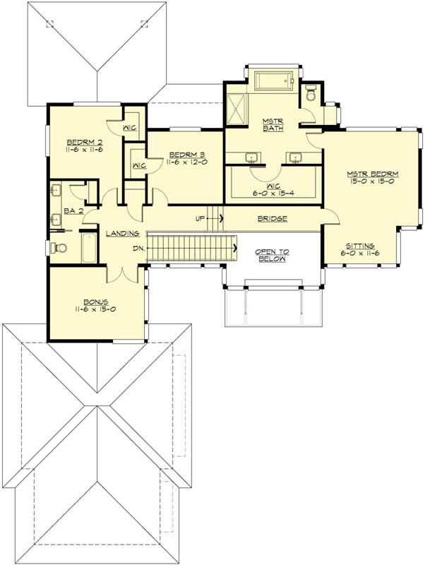 Upper/Second Floor Plan: 88-580