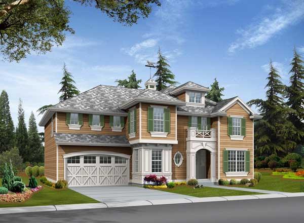Hampton Style House Plans Plan: 88-581