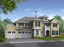 Traditional Style Home Design 88-582
